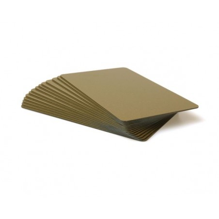 Light Glitter Gold Plastic Cards With Coloured Core - 760 Micron (Pack of 100)