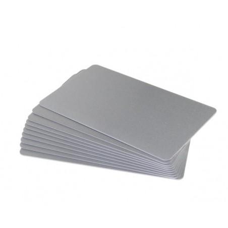 CDC035-0026 Carte colorate fondo lucido ARGENTO Glitter 760 Micron (confezione da 100 pz.)