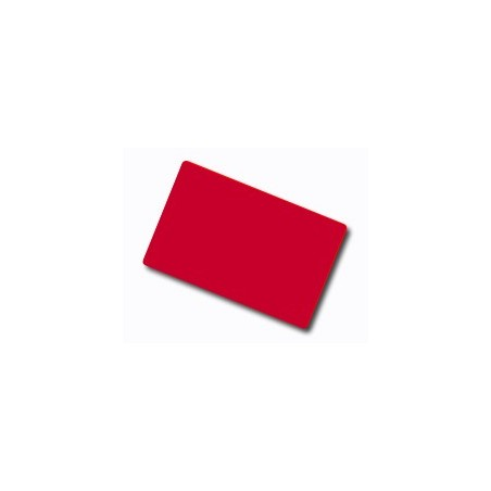 Red Plastic Cards, Coloured Core - 760 Micron (Pack of 100)